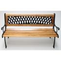 Chaise banc de jardin, en bois - métal