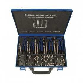 Kit de réparation filetages 130 pièces, M6-M14, 15053