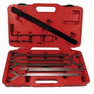 outils pour blocage pompe a eau et ventilateur, BMW & FORD
