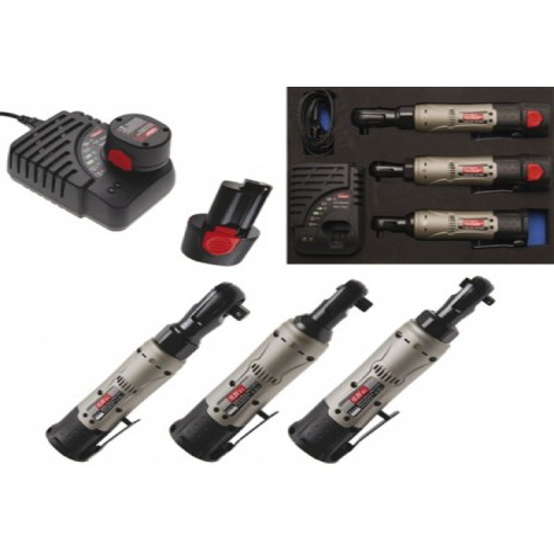 Cle a cliquet electrique a batterie (1/4 , 3/8 ,1/2) 5 pces