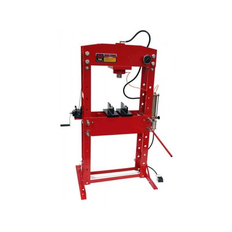 Presse hydraulique d'atelier avec manomètre, 50 tonnes - Fi_24479