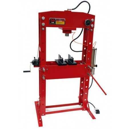 Presse hydraulique d'atelier avec manomètre, 50 tonnes