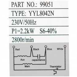 Moteur électrique Triphasé 230 V 2200 Watt
