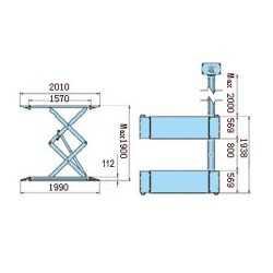 Pont élévateur a ciseaux hauteur de levage 1m90 - 220V