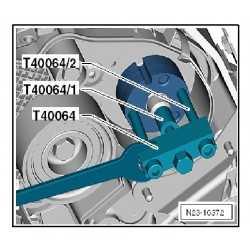 Extracteur moyeu de la pompe haute pression, VW T40064