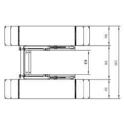 Pont a ciseaux - élévateur, 3 tonnes - 220V