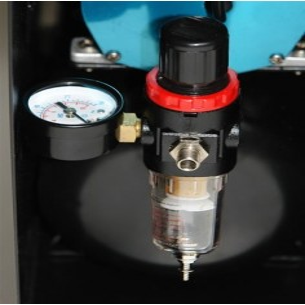 Compresseur airbrush bi-cylindre 150 W antivibration silencieux