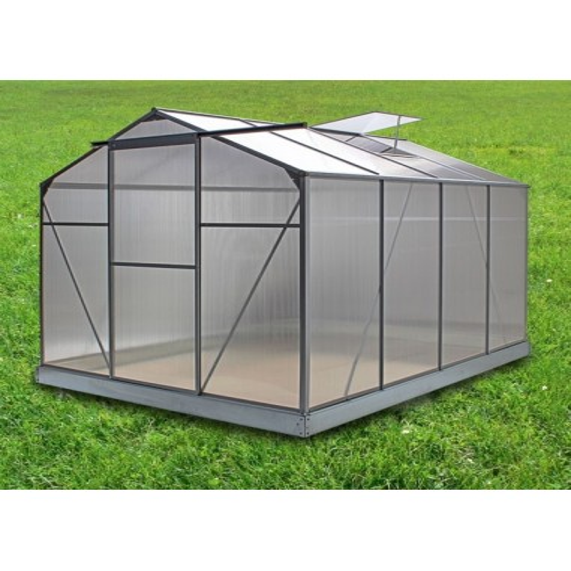 Serre de jardin 4,75 m² en polycarbonate anti-uv