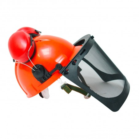 Casque protection forestier